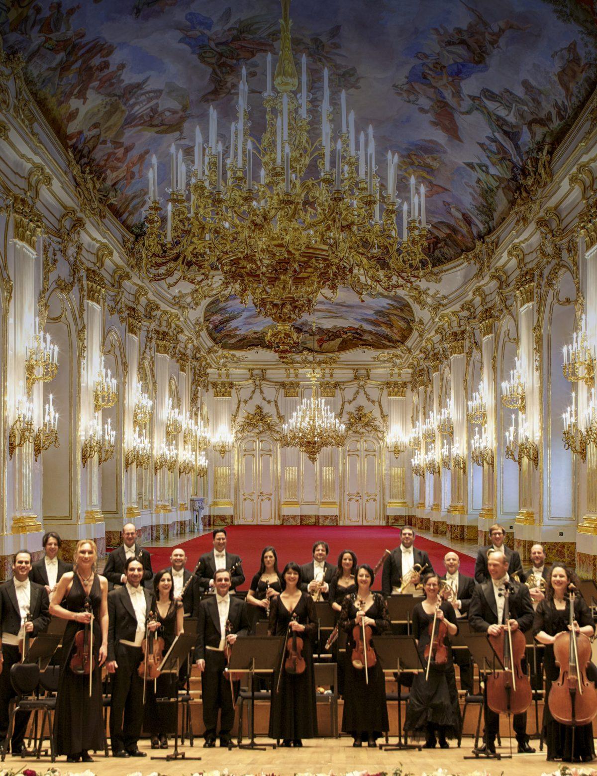 Nyårskonserten 2018 med Schönbrunns slottsensemble.