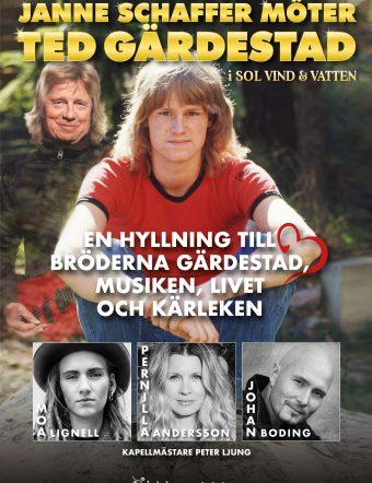 Janne Schaffer möter Ted Gärdestad i Sol, vind och vatten med Moa Lignell, Pernilla Andersson & Johan Boding.