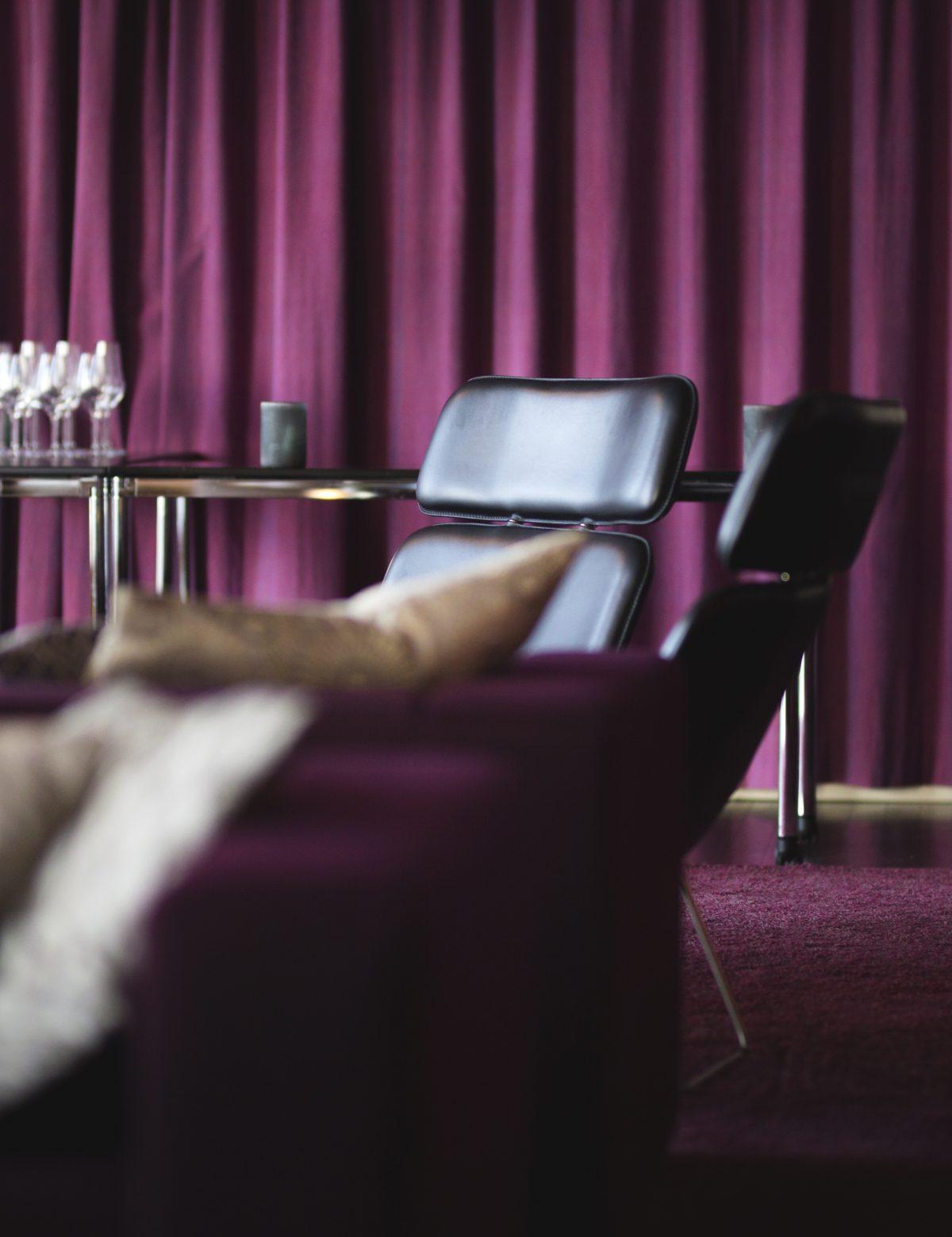 Lounge och festvåning på plan 7. Foto: Julius Bohlin.