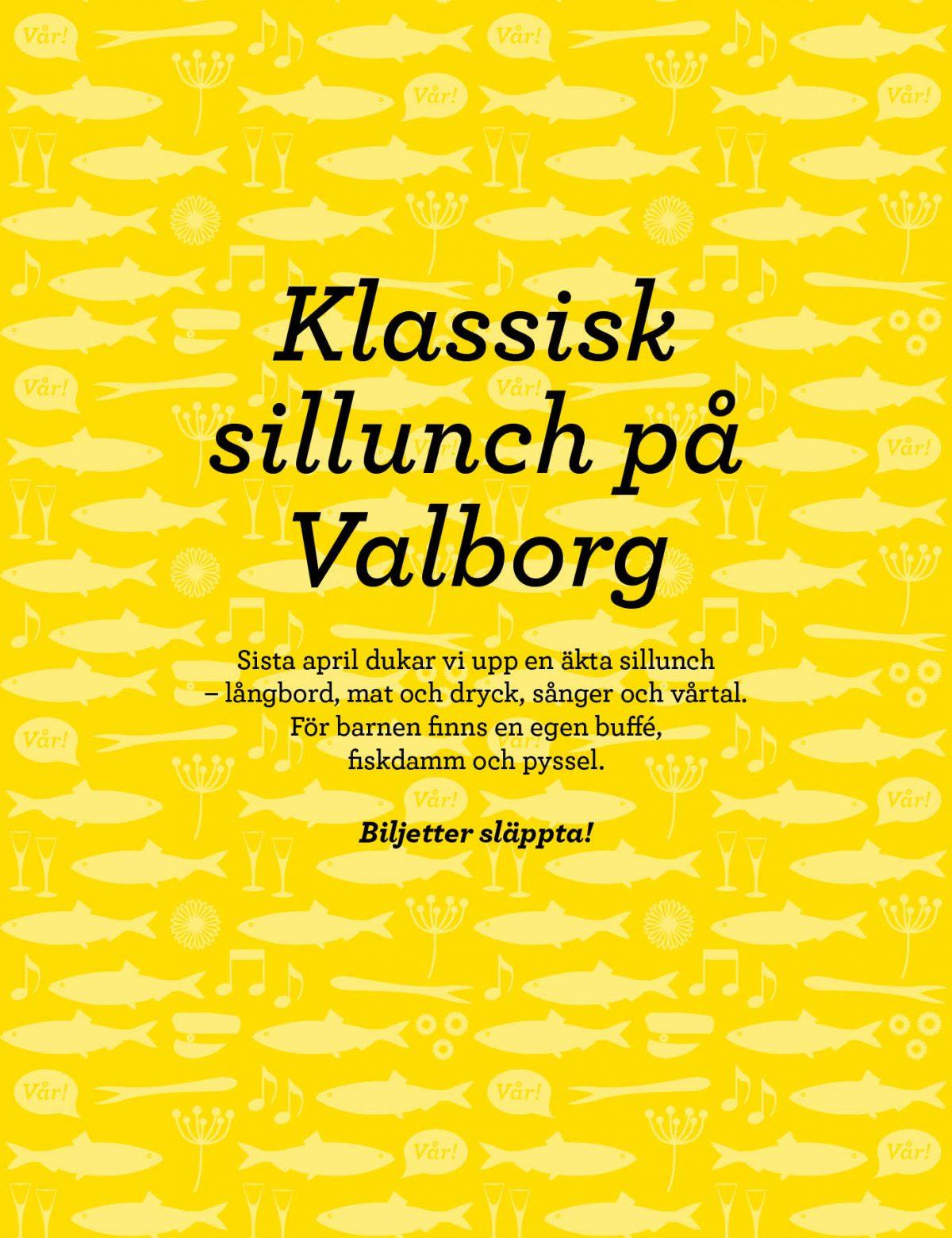 Klassiska sillunch på Valborg.