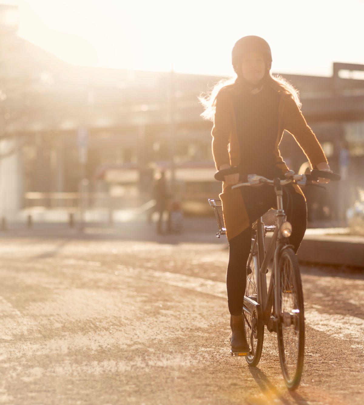 klimatsmart att cykla, bild från Uppsala resecentrum