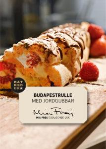 Budapestrulle med jordgubbar