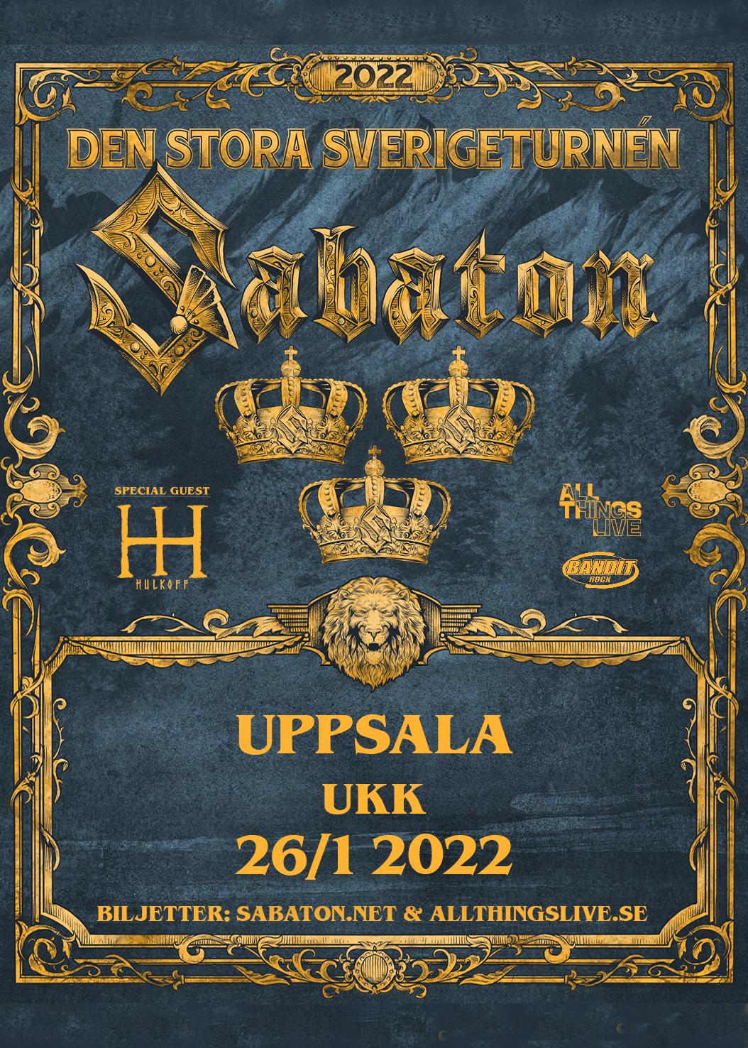 Sabaton Sverigeturné 2022