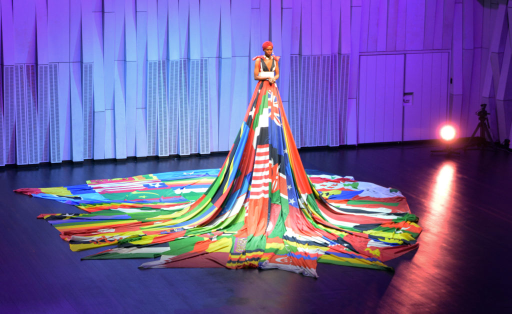 Purity Page iförd Amsterdam Rainbow Dress